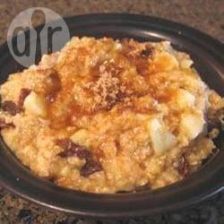 Recette porridge aux pommes, à la banane et aux raisins secs ...
