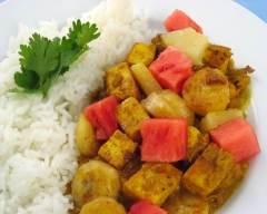 Cari de tofu aux fruits | cuisine az
