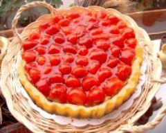 Recette tarte aux fraises au coulis de fraise