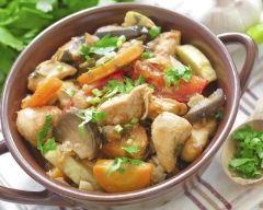 Recette poulet aux carottes et aux champignons