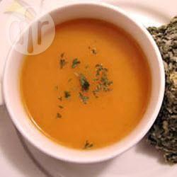 Recette soupe aux carottes, au chili et à la coriandre – toutes les ...