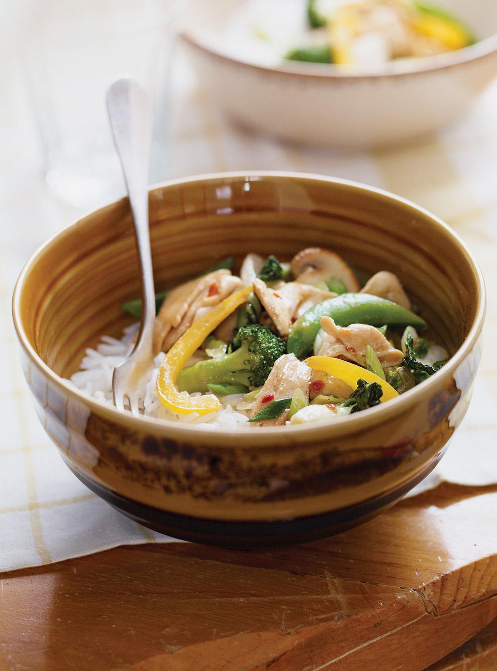 Fondue chinoise en sauté (pour les restes de viande, de légumes ...