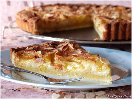 Recette de tarte aux prunes jaunes et amandes