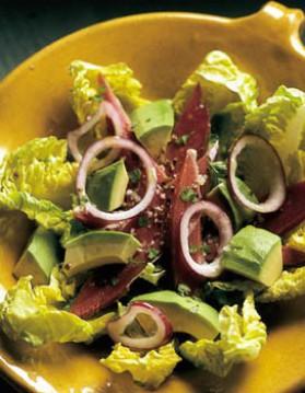 Salade d'avocat au magret de canard pour 4 personnes