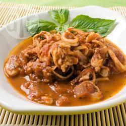 Recette calamars en sauce au vin et à la tomate – toutes les ...