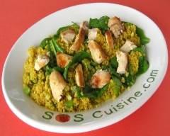 Recette salade de quinoa et poulet