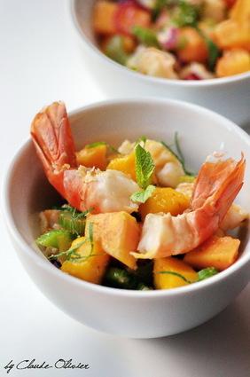 Recette de salade de gambas aux saveurs exotiques