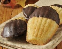 Recette madeleines enrobées de chocolat noir