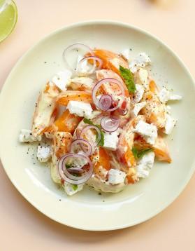 Salade abricots-feta pour 4 personnes