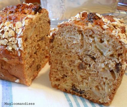 Recette de cake pommes avoine sans beurre et peu sucré