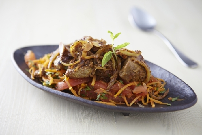 Recette de tikka d'agneau au curry de madras, légumes crus facile ...