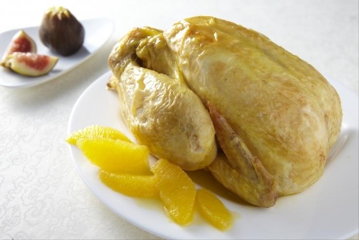 Recette de poulet jaune rôti aux figues et à l'orange facile et rapide