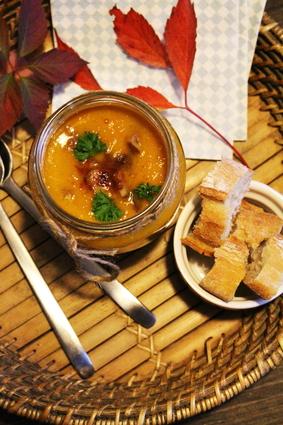 Recette de soupe de potimarron, patate douce et marrons