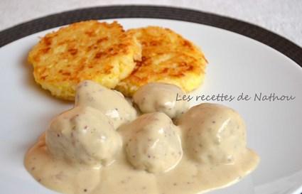 Recette de boulettes aux oignons, sauce moutarde et balsamique et ...