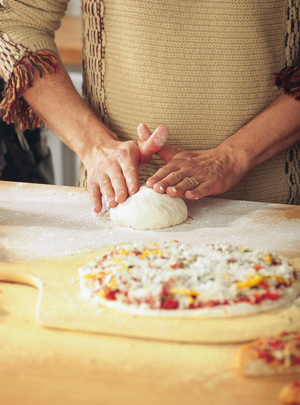 Pizza croûte mince au fromage frais | ricardo