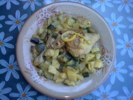 Recette de ragoût de poulet au citron et olives