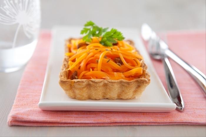 Recette de tartelettes aux carottes aux saveurs orientales facile et ...