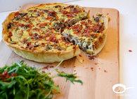Recette de tarte aux champignons, roquette et jambon italien