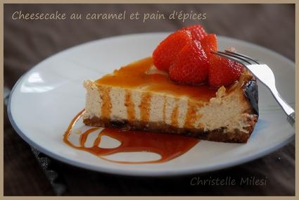 Recette de cheesecake au caramel et pain d'épices