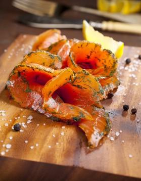Saumon mariné à la vanille de sébastien gaudard pour 2 personnes