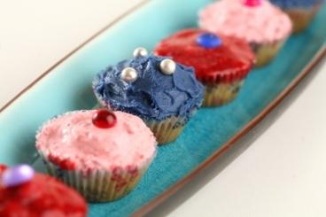 Recette de cupcake vanillé multicolore facile et rapide