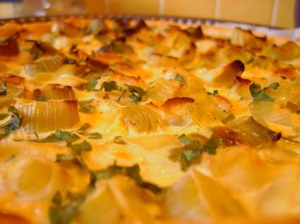 Recette de tarte aux poireaux légère