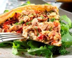 Recette tarte au thon et légumes d'été