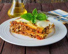 Recette lasagnes bœuf, tomate et mozzarella