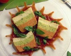 Recette flan de légumes variés au coulis de poivrons