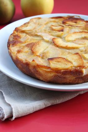 Recette de gâteau invisible aux pommes et aux poires
