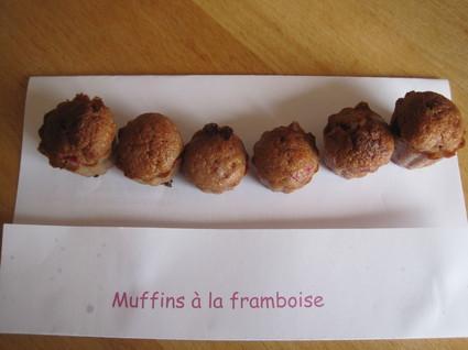 Recette de mini-muffins à la framboise