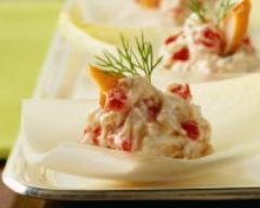 Recette salade d'endives au saumon fumé