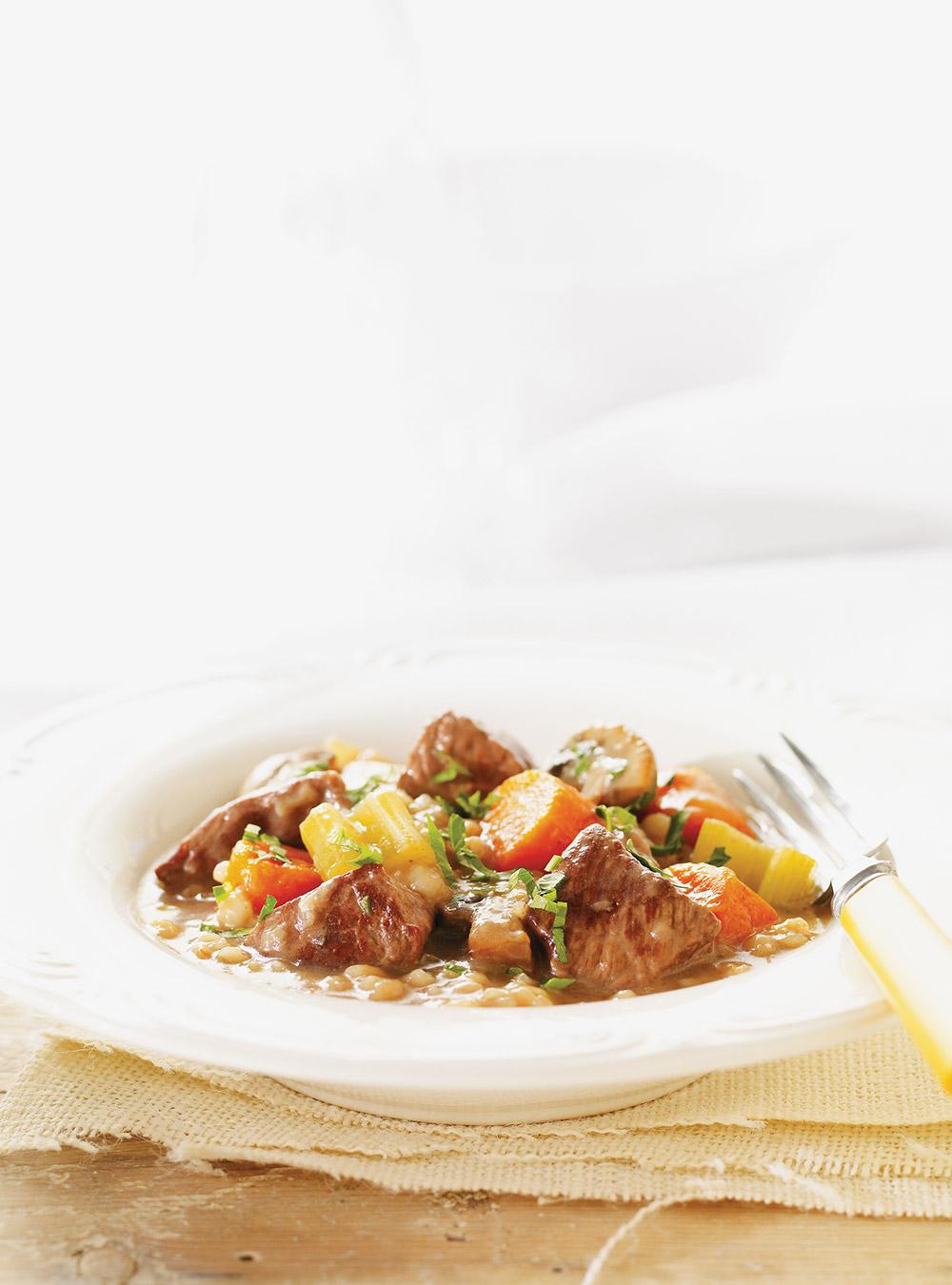 Mijoté de boeuf aux légumes et à l'orge | ricardo