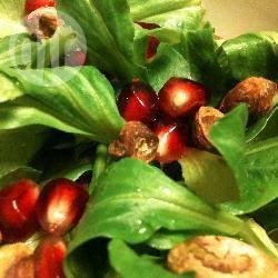 Recette salade de mâche aux graines de grenade et aux pistaches ...
