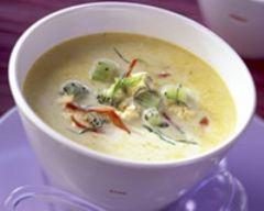 Recette soupe épicée au lait de coco, poulet et kiwis