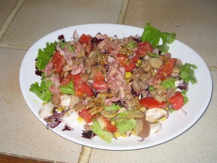 Recette de salade aux marrons et aux noix