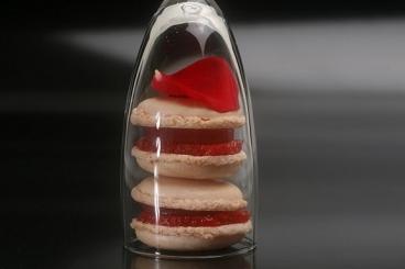 Recette de macaron au sucre cuit fraise et gelée de champagne ...