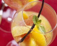 Recette salade de pamplemousses à l'orange, vanille et vodka