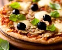 Recette pizza aux légumes et à la mozzarella