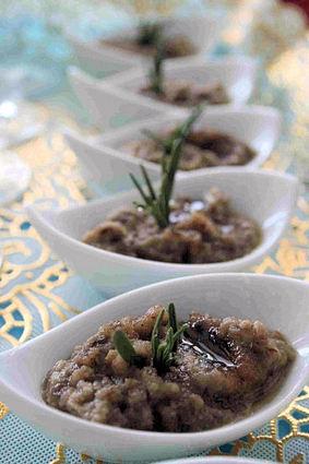 Recette de caviar d'aubergine au miel et au romarin