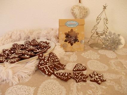 Recette de biscuits de noël à la cannelle et au chocolat