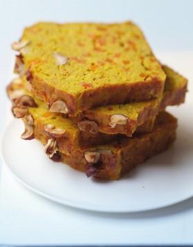 Cake aux lentilles corail, carottes et curry pour 8 personnes ...