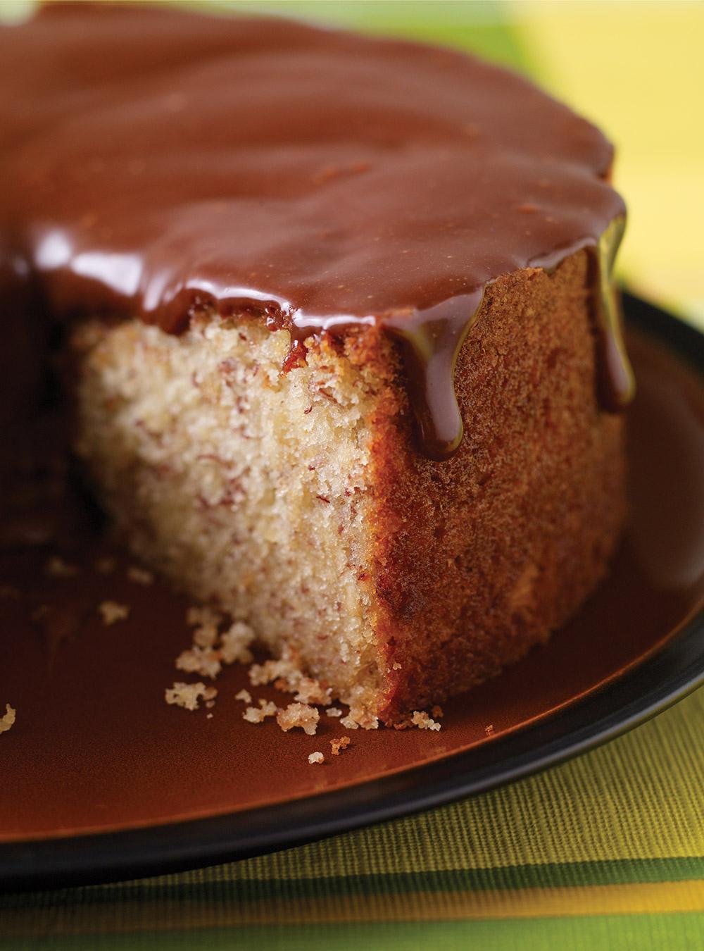 Gâteau aux bananes, glaçage à la barre mars   ricardo