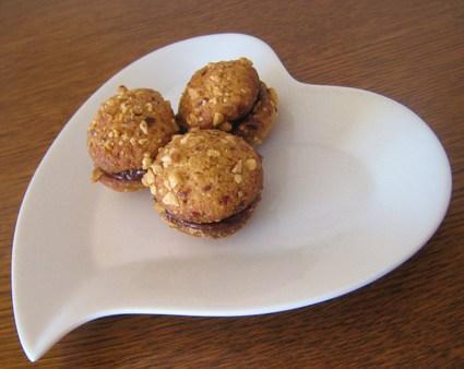 Recette de biscuits aux noisettes et ganache chocolat praliné
