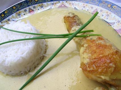Recette de cuisses de poulet à la crème de gingembre