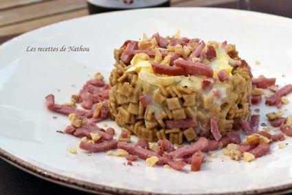 Recette de crozets façon risotto au reblochon, bacon et paprika fumé