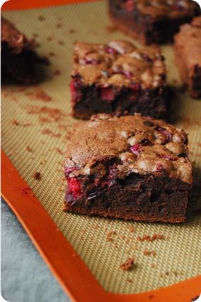 Recette de brownie fondant au chocolat et canneberges
