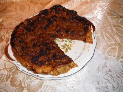 Recette de tarte aux pommes et pain d'épices