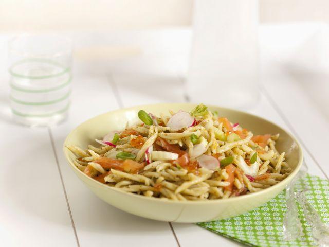 Recette salade de trofie au saumon et au pesto genovese