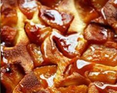 Recette flognarde aux pommes sous le caramel